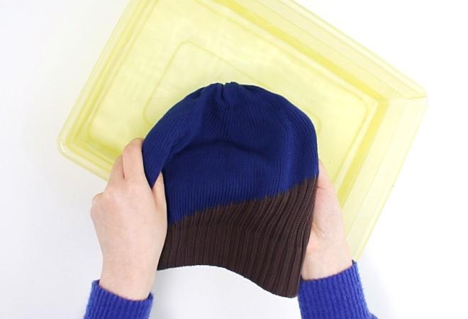 ケア帽子の手洗い